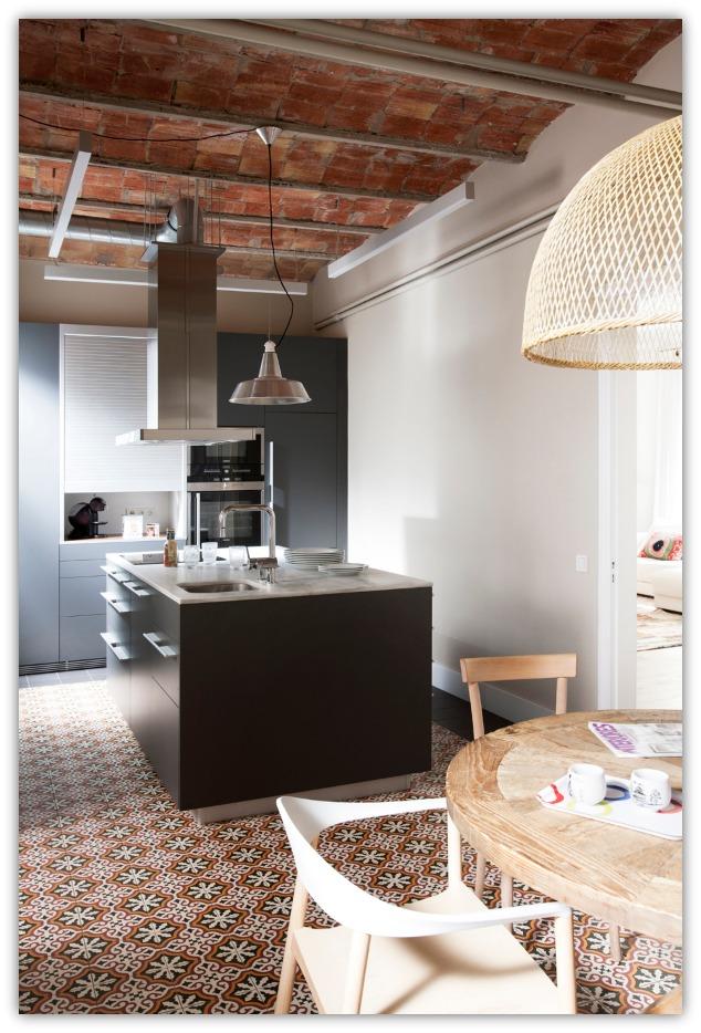 cocina piso barcelona