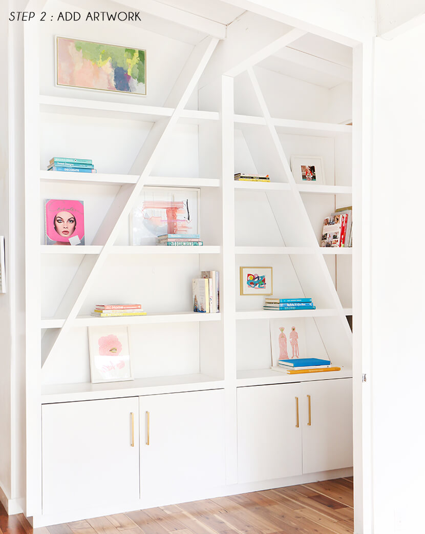 Emily-Henderson-Pink-Shelf-Styling-STEP-2